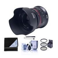 Image of Meike 50mm f/1.7 Lens for Canon RF, Black - Bundle with 52mm Filter Kit, Cleaning Kit, Lens Wrap, Capleash II
