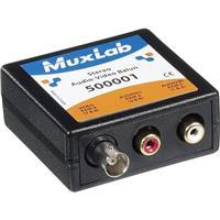 Image of Muxlab Stereo Audio-Video Balun, RCA/BNC A/V to RJ45
