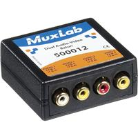 Image of Muxlab Dual Audio-Video Balun, 4x RCA Connectors