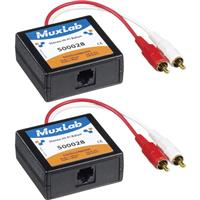 Compare Prices Of  Muxlab Stereo Hi-Fi Balun with Color Coded RCA Male Plugs, 2 Pack