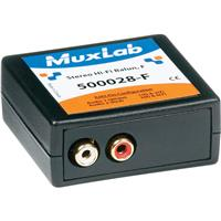 Image of Muxlab Stereo Hi-Fi Balun with Color Coded RCA Female Plugs