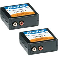 Image of Muxlab Stereo Hi-Fi Balun with Color Coded RCA Female Plugs, 2 Pack