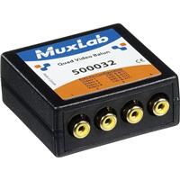 Image of Muxlab Quad Video Balun with 4x RCA Connectors