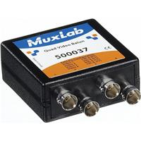 Image of Muxlab Quad Video Balun with 4x BNC Connectors