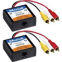 Image of Muxlab Stereo Hi-Fi/Video Balun, 2 Pack