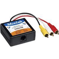 Image of Muxlab VideoEase Stereo AV/IR Pass-Thru Balun, Male