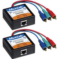 Image of Muxlab Component Video/Digital Audio Balun, Male, 2 Pack
