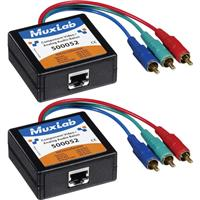 Image of Muxlab Component Video/Analog Audio Balun, Male, 2 Pack