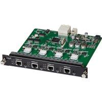 Image of Muxlab 4 Channel HDBT/LAN PoE 4K UHD Output Card for Multimedia 16x16 Matrix Switch
