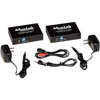 Image of Muxlab HDMI / RS232 Over IP Extender Kit with PoE