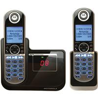 Motorola P1002 DECT 6.0 Digital Cordless Phone with 2 Handsets and Answering Machine