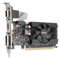 Image of MSI GeForce GT 710 2GD3 LP 2GB GDDR3 Graphics Card, 1x DVI, 1x HDMI, 1x VGA