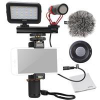 Image of Movo Photo Smartphone Video Kit V1 with PR-1 Smartphone Rig & VXR10 Mini Shotgun Microphone