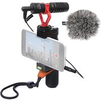 Image of Movo Photo PR-2-PM Smartphone Video Kit with PR-1 Smartphone Video Rig, VXR10 Mini Shotgun Microphone