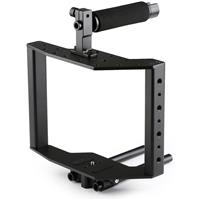Image of Movo Photo SCG-30 Universal Aluminum DSLR Camera Cage with Top Handle, Shoe Mount and 15mm Rods