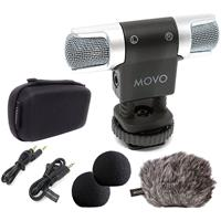 Image of Movo Photo VXR3000 Omnidirectional Compact Stereo Video Microphone for Smartphones, DSLR Cameras and Camcorders
