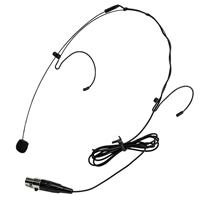 Image of Nady HM-10 Headmic Headworn Omni-Directional Condenser Microphone with 3-Pin Mini XLR Connector, Black