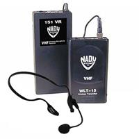 Image of Nady 151 VR0-HM3 Wireless Headset System with 151VR Receiver, WLT Headset Bodypack Transmitter with HM-3 Uni-Condenser Mic and Audio Cable