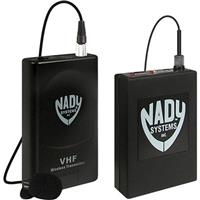 Image of Nady 351VR VHF Wireless Lavalier Microphone System for Camcorders, Includes Receiver, WLT Bodypack Transmitter, Omnidirectional Lavalier, B/185.150MHz