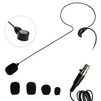 Image of Nady HM-45U Headmic Headworn Uni-Directional Condenser Microphone with Mini XLR Connector, Black
