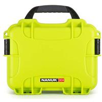 Image of Nanuk Small Series 904 Lightweight NK-7 Resin Waterproof Protective Case for Mirrorless Camera or 2-Way Radio, Lime