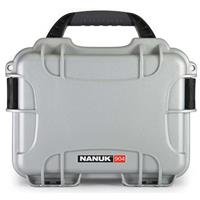 Image of Nanuk Small Series 904 Lightweight NK-7 Resin Waterproof Protective Case for Mirrorless Camera or 2-Way Radio, Silver
