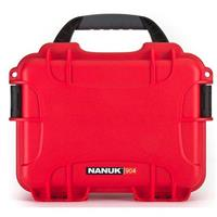 Image of Nanuk Small Series 904 Lightweight NK-7 Resin Waterproof Protective Case for Mirrorless Camera or 2-Way Radio, Red