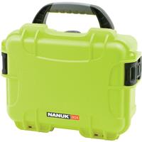 Image of Nanuk Small Series 904 Lightweight NK-7 Resin Waterproof Protective Case with Foam for Mirrorless Camera or 2-Way Radio, Lime