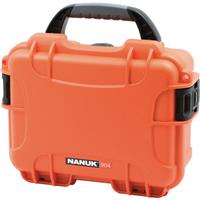 Image of Nanuk Small Series 904 Lightweight NK-7 Resin Waterproof Protective Case with Foam for Mirrorless Camera or 2-Way Radio, Orange