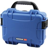 Image of Nanuk Small Series 904 Lightweight NK-7 Resin Waterproof Protective Case with Foam for Mirrorless Camera or 2-Way Radio, Blue