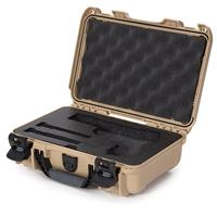 Image of Nanuk 909 Classic Pistol Case, Holds Pistol and Two Single Stack or One Double Stack Magazines, Tan