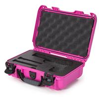 Image of Nanuk 909 Classic Pistol Case, Holds Pistol and Two Single Stack or One Double Stack Magazines, Pink