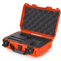 Image of Nanuk 909 Classic Pistol Case, Holds Pistol and Two Single Stack or One Double Stack Magazines, Orange
