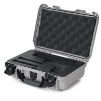 Image of Nanuk 909 Classic Pistol Case, Holds Pistol and Two Single Stack or One Double Stack Magazines, Silver