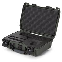 Image of Nanuk 909 Classic Pistol Case, Holds Pistol and Two Single Stack or One Double Stack Magazines, Olive