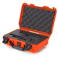 Image of Nanuk 909 Glock Pistol Case, Holds Most Glock Pistols and Two Magazines, Orange