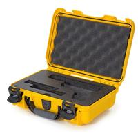 Image of Nanuk 909 Glock Pistol Case, Holds Most Glock Pistols and Two Magazines, Yellow