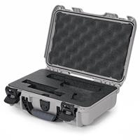 Image of Nanuk 909 Glock Pistol Case, Holds Most Glock Pistols and Two Magazines, Silver