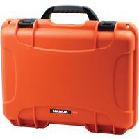 Image of Nanuk Medium Series 910 Lightweight NK-7 Resin Waterproof Protective Case for Camcorder or Mirrorless Camera Kit, Orange