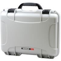 Image of Nanuk Medium Series 910 Lightweight NK-7 Resin Waterproof Protective Case for Camcorder or Mirrorless Camera Kit, Silver