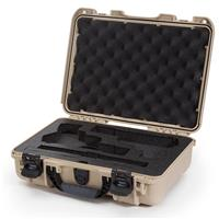 Image of Nanuk 910 2Up Classic Pistol Case, Holds Two Pistols and Two Single Stack or Two Double Stack Magazines, Tan