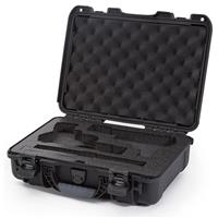 Image of Nanuk 910 2Up Classic Pistol Case, Holds Two Pistols and Two Single Stack or Two Double Stack Magazines, Black