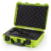 Image of Nanuk 910 2Up Classic Pistol Case, Holds Two Pistols and Two Single Stack or Two Double Stack Magazines, Lime Green