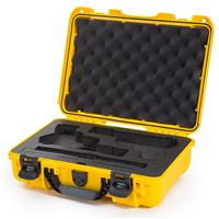 Image of Nanuk 910 2Up Classic Pistol Case, Holds Two Pistols and Two Single Stack or Two Double Stack Magazines, Yellow