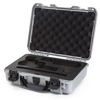 Image of Nanuk 910 2Up Classic Pistol Case, Holds Two Pistols and Two Single Stack or Two Double Stack Magazines, Silver