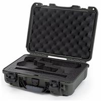 Image of Nanuk 910 2Up Classic Pistol Case, Holds Two Pistols and Two Single Stack or Two Double Stack Magazines, Olive