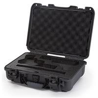 Image of Nanuk 910 2Up Classic Pistol Case, Holds Two Pistols and Two Single Stack or Two Double Stack Magazines, Graphite