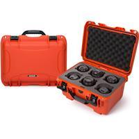 Image of Nanuk Medium Series 918 Lightweight NK-7 Resin Waterproof Protective Case with Foam Insert for 6 Camera Lens, Orange
