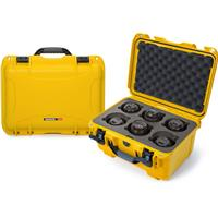 Image of Nanuk Medium Series 918 Lightweight NK-7 Resin Waterproof Protective Case with Foam Insert for 6 Camera Lens, Yellow