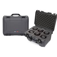 Image of Nanuk Medium Series 918 Lightweight NK-7 Resin Waterproof Protective Case with Foam Insert for 6 Camera Lens, Graphite